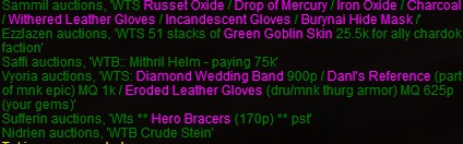 reselling items for plat p1999 eq