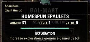 Exploration Trait leveling eso
