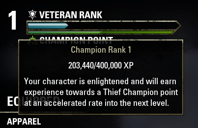 Veteran Rank Enlightenment