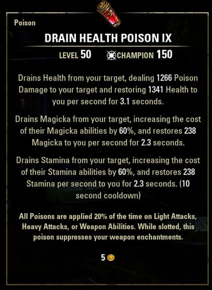 Drain-health-poison