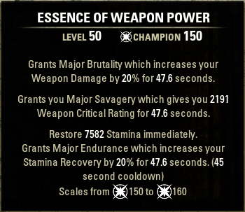 Essemce of Weapon Power