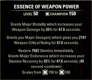 Essemce of Weapon Power