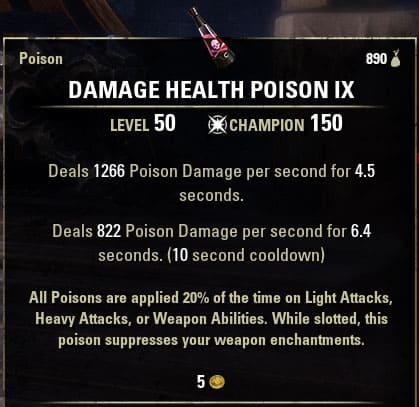 damage health poison