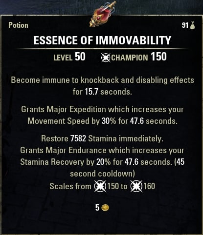 essence of immovability
