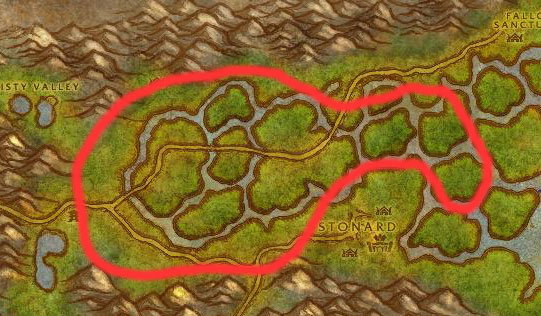 Swanp of Sorrows Cougars Map