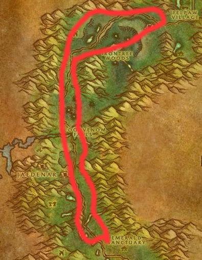 Felwood Angerclaw Bears Map