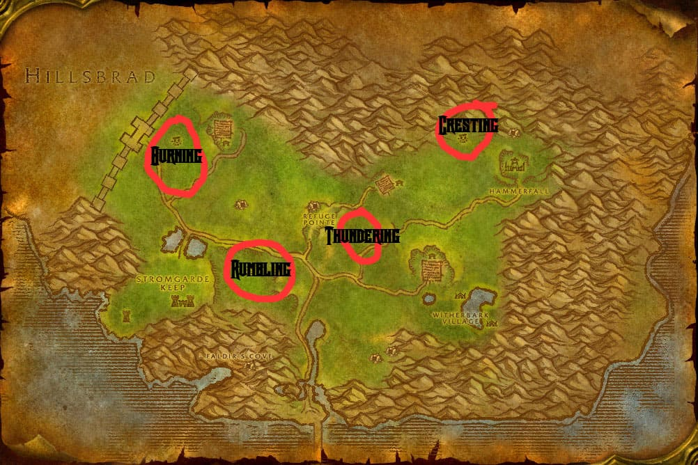Arathi Highlands Elemental Map
