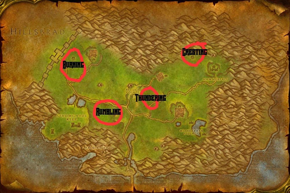 Arathi Highlands Elemental Map