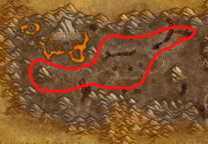 Burning Steppes Mining & Herbalism Route