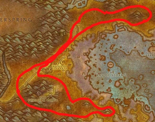 Azshara Mining & Herbalism Map