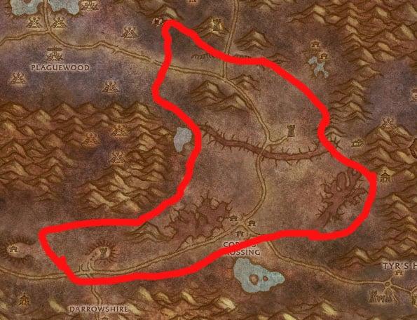 Eastern Plaguelands Mining & Herb Map