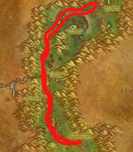 Felwood Mining & Herbalism Route