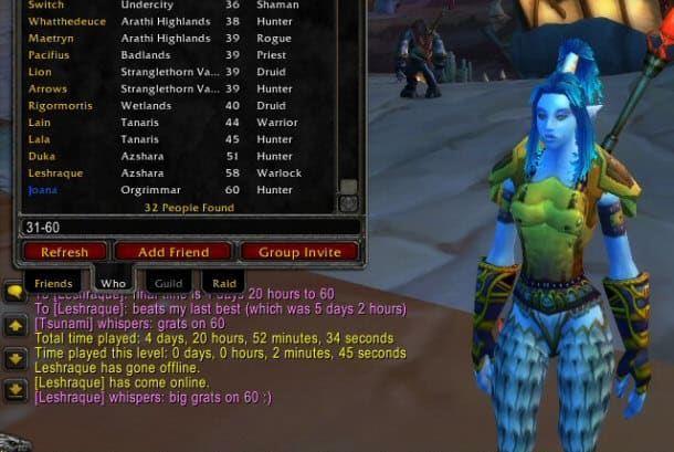 wow classic how fast leveling to 60