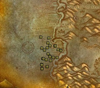 Shellfish in Desolace Map