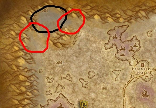 Silithus Elemental Farm Map