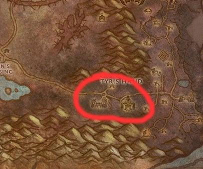 Tyr's Hand Farm Map