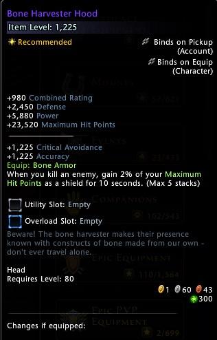 Bone Harvester Hood