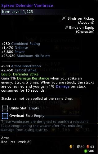 Spiked Defender Vambrace