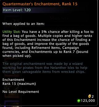 Quartermasters Enchantment