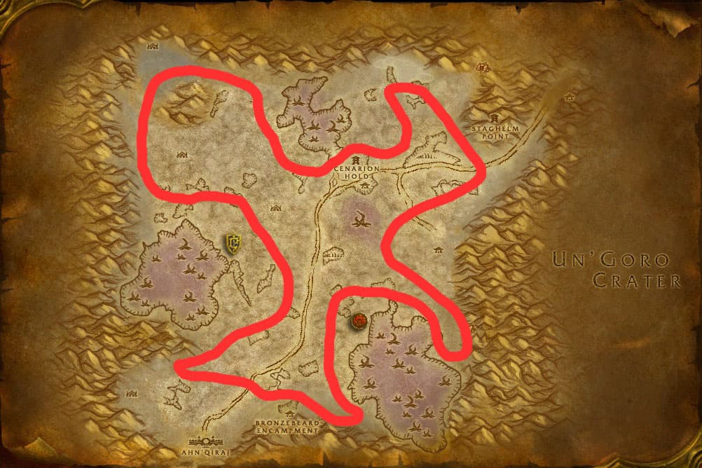 Silithus Minign & Herbalism Route