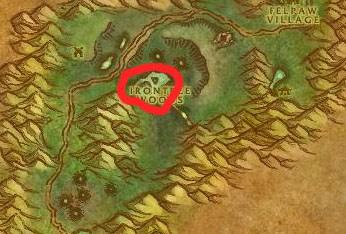 Felwood Toxic Horrors Map