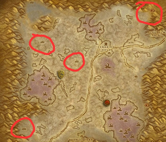 Silithus Twilight Humanoids Farm Map