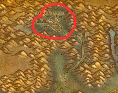 Hearthglen Eastern Plaguelands Map