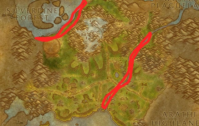 Snapjaw Turtles in Hillsbrad Foothills Map