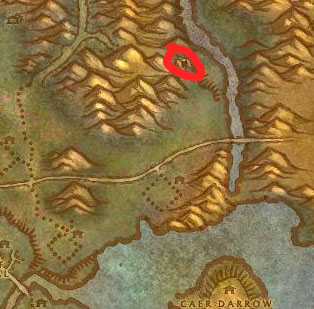 Eastern Plaguelands Weeping Cave Map