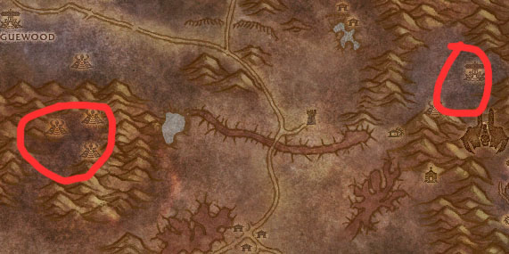 Western Plaguelands Dark Adept Map