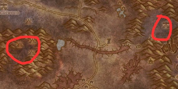 Western Plaguelands Dark Adept Map