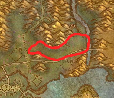 Western Plaguelands Beast Farm Map