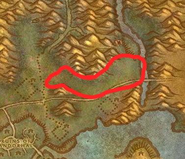 Western Plaguelands Beast Farm Map