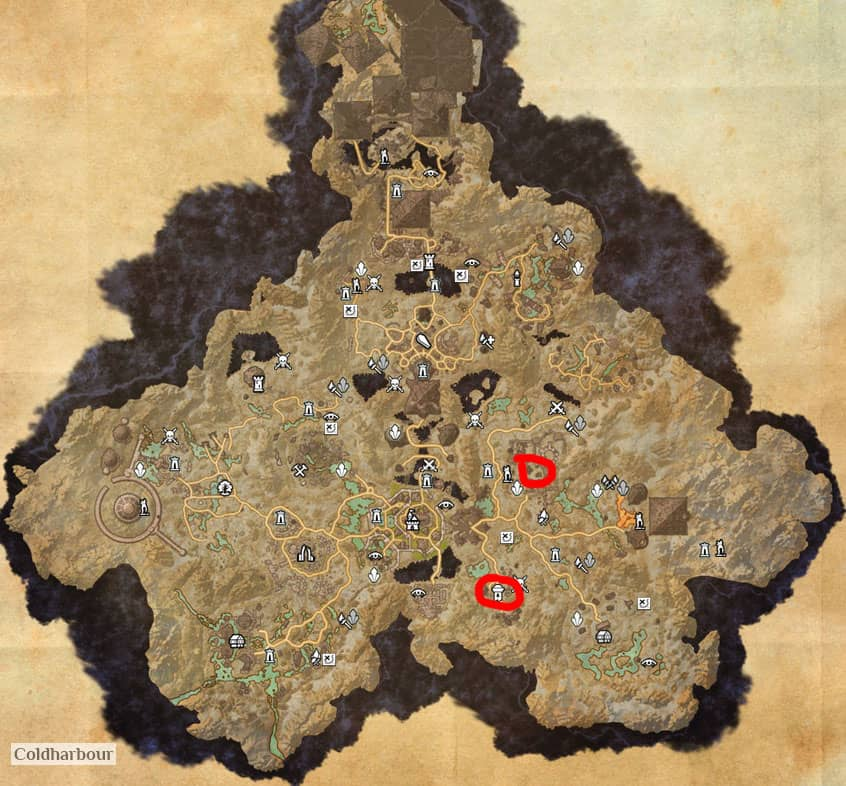 Coldharbour Grinding Map