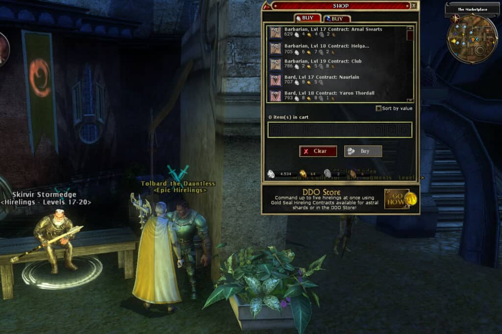 Hirelings will help you out when leveling in DDO.