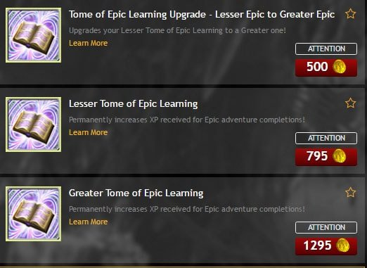 Tomes of Learning will provide you with permanent bonus XP in DDO.