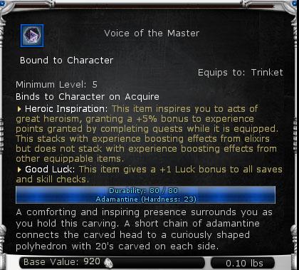 Heroic Inspiration will give you 5% bonus XP.