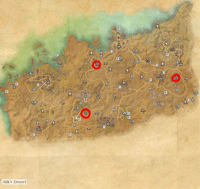 Alik'r Dolmen Map