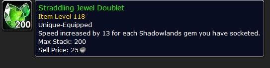 Shadowlands Movement Speed Gem