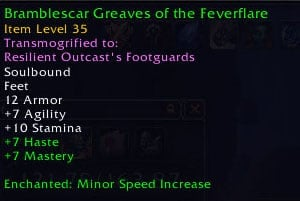 Wow movement speed boots