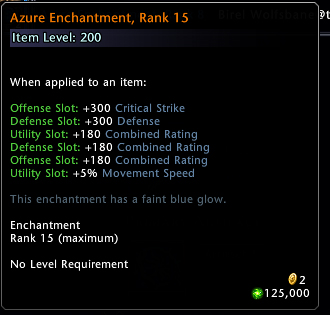 Enchantment Leveling Neverwinter